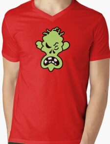 Angry Halloween Zombie Mens V-Neck T-Shirt