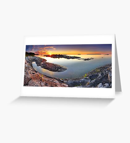 Sunset from Dunk's Point in Tobermory Greeting Card