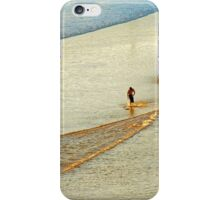 "Shore Surfing, skim surfing on the shallow waves on the beach at ""Avila Beach"" California iPhone Case/Skin"
