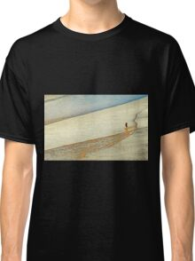 "Shore Surfing, skim surfing on the shallow waves on the beach at ""Avila Beach"" California Classic T-Shirt"