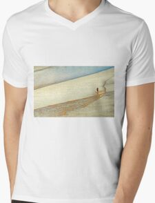 "Shore Surfing, skim surfing on the shallow waves on the beach at ""Avila Beach"" California Mens V-Neck T-Shirt"