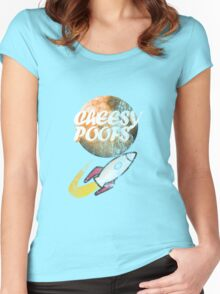 Cheesy Poofs Women's Fitted Scoop T-Shirt
