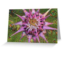 Alien Flower Machine Dreams Greeting Card