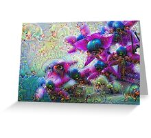Harlequin Glorybower Machine Dreams Greeting Card