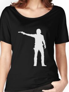 TWD Rick Grimes Silhouette Women's Relaxed Fit T-Shirt