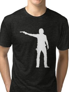 TWD Rick Grimes Silhouette Tri-blend T-Shirt