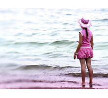 Pink girl Photographic Print