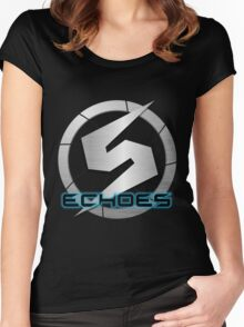 Metroid Prime 2: Echoes/Screw Attack Logos Women's Fitted Scoop T-Shirt