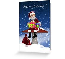 Santa With Gifts Holiday Winter Greeting Card Greeting Card