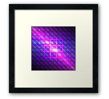 Celestial Rains Rubix | Future Art Fashion | Remix Framed Print