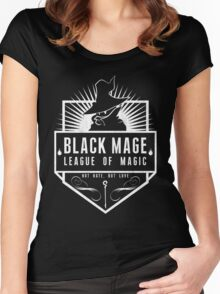 League of Magic: Black Women's Fitted Scoop T-Shirt