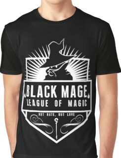 League of Magic: Black Graphic T-Shirt