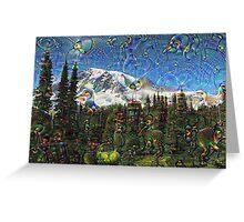 Mt. Rainier Machine Dreams #1 Greeting Card