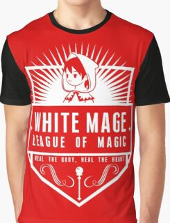 League of Magic: White Graphic T-Shirt