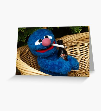 Addicted Grover Greeting Card