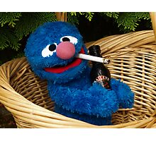 Addicted Grover Photographic Print