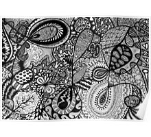 Black and white Doodle... Poster