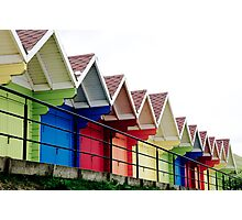 Beach Huts, Scarborough Photographic Print