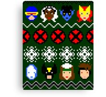 Ugly Christmas Sweater - X-Men Canvas Print