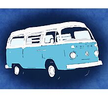 Bay Camper Blue White New Version Photographic Print