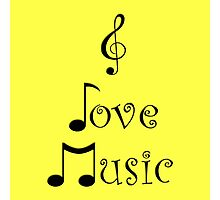 I Love Music - Yodeling Yellow Photographic Print