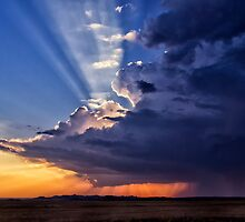 Stormy Weather - Badlands National Park by Kathy Weaver