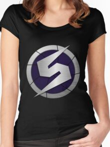 Purple Metroid Logo (Gravity Suit) Women's Fitted Scoop T-Shirt