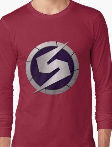 Purple Metroid Logo (Gravity Suit) Long Sleeve T-Shirt