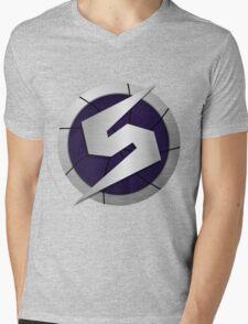 Purple Metroid Logo (Gravity Suit) Mens V-Neck T-Shirt