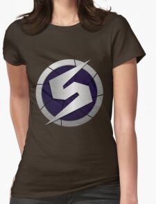 Purple Metroid Logo (Gravity Suit) Womens Fitted T-Shirt
