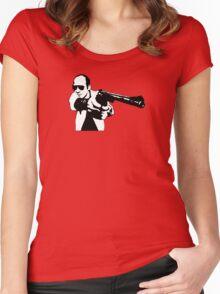 Hunter S Thompson - Gun Women's Fitted Scoop T-Shirt