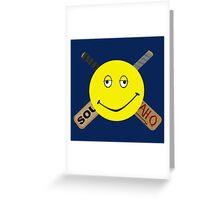 Dazed and Crossbones Greeting Card