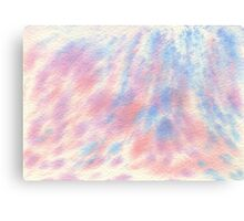 Watercolor Hand Painted Pink and Blue Speckled Background Canvas Print