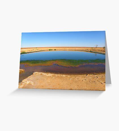 Waterhole on the way to Lake Ayes Greeting Card
