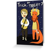 Trick or treat? Greeting Card