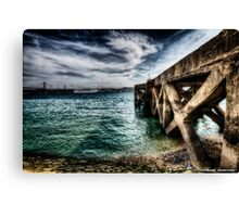 Ode to the Big Sea - Tagus River, Lisbon Docks Portugal Canvas Print