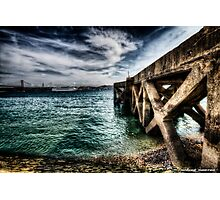 Ode to the Big Sea - Tagus River, Lisbon Docks Portugal Photographic Print