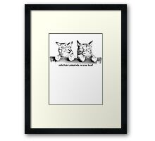 Cats Leave Pawprints On Your Heart Framed Print