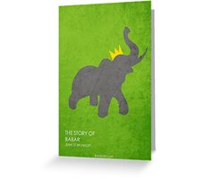 The Story of Babar Greeting Card