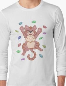 Kitty Heaven Brown Fur  Long Sleeve T-Shirt