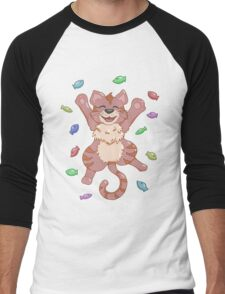Kitty Heaven Brown Fur  Men's Baseball ¾ T-Shirt