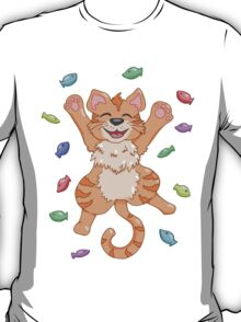 Kitty Heaven Orange Fur  T-Shirt