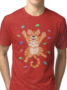 Kitty Heaven Orange Fur  Tri-blend T-Shirt