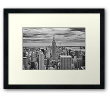 Winter Storm over Midtown Framed Print