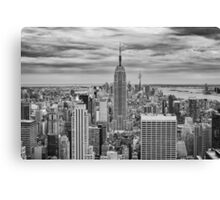 Winter Storm over Midtown Canvas Print