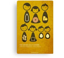 The Seven Silly Eaters Canvas Print