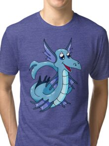 Happy Sea Serpent  Tri-blend T-Shirt