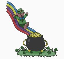 St Patricks Bear Pot of Gold Slide Kids Clothes