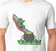 St Patricks Bear Pot of Gold Slide Unisex T-Shirt