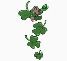 Mouse Floating on Shamrocks Unisex T-Shirt
